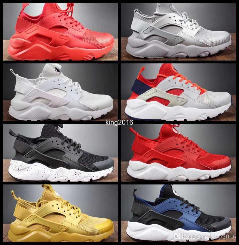 2017 Air Huarache 4 IV Run Ultra PK Running Shoes For Men Women Huaraches  Red White Gold Huraches Sports Mens Trainers Sneakers 36 45 Neutral Running  Shoes ... 3aa4157ad