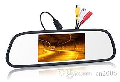 "Backup car Camera and Monitor Kit 4.3"" Car Vehicle Rearview Mirror Monitor for DVD/VCR/Car Reverse Camera + CMOS Rear-view License"