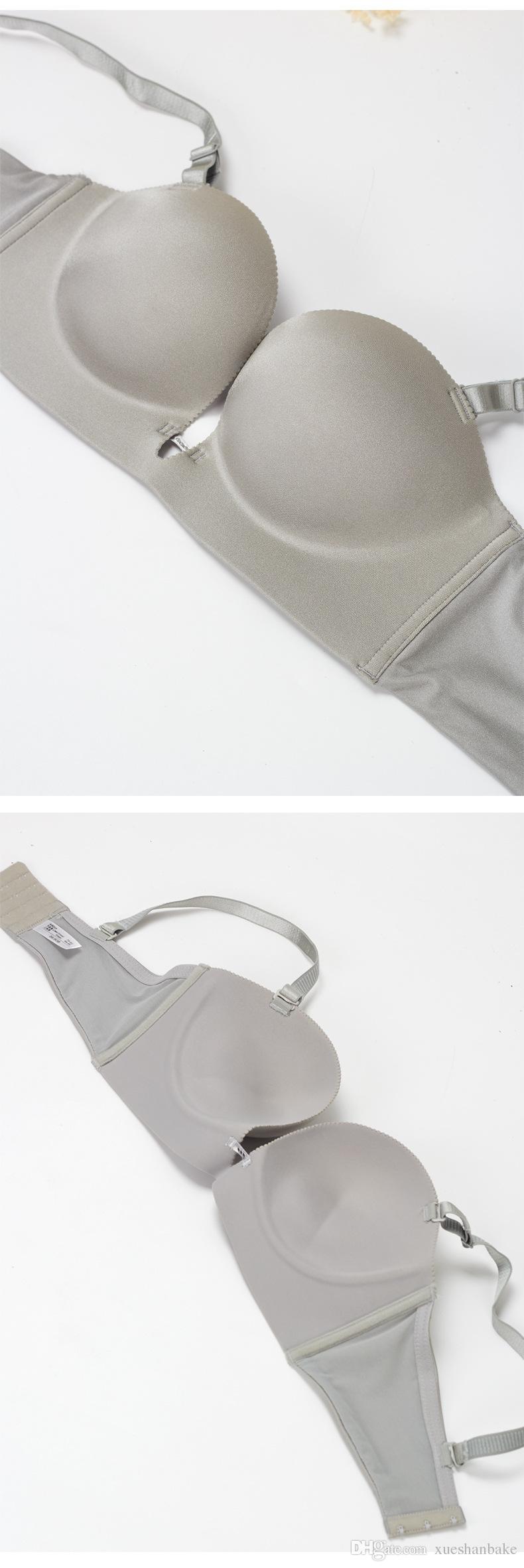 Moda seksi sütyen setleri Tek Parça derin V sütyen kız iç çamaşırı toplamak sutyen vücut şekillendirici Omuz askısı boyutu 32-38 A / B / C fincan 248A