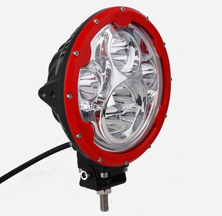 7 inch Round 60W LED Spot Work Light CREE 10W x 6 LEDs 10-30V Spotlight Car 4WD SUV ATV Boat 4x4 Driving Headlight