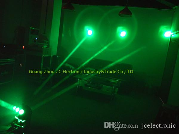 Più nuovo 9 pz 10 w RGBW 4in1 Cree Led Phantom Raggio Trave Testa Luce Y Asse Rotazione Infinita