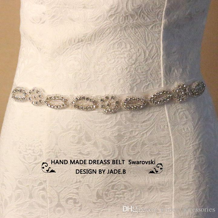 compre diamantes de plata nupcial cinturones diamantes de imitación