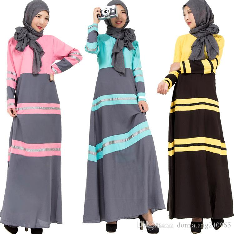 31f2be3968bd 2019 2016 Young Ladies Beautiful Islamic Clothing Fashion Patched ...