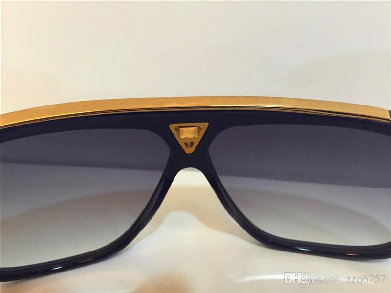 حار الرجال تصميم الأزياء نظارات المليونير الأدلة النظارات الرجعية خمر لامعة الذهب الصيف نمط الليزر شعار z0350 واط أعلى جودة