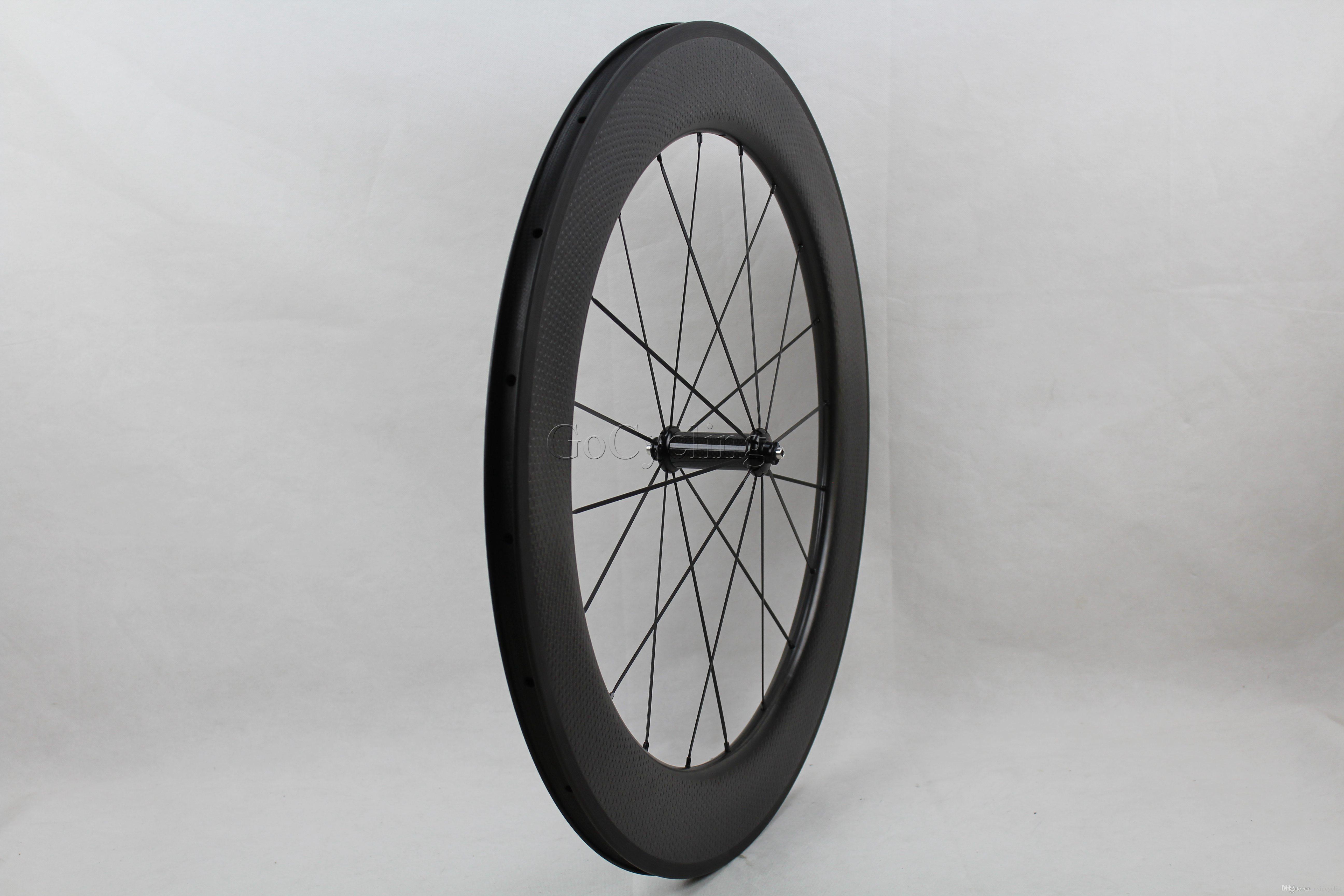 Dimple golf Cerchi in carbonio superficie cerchio profondità 80mm Copertoncino 700c in fibra di carbonio bici da strada ruote in carbonio Bicicletta Wheelset basalto superficie freno