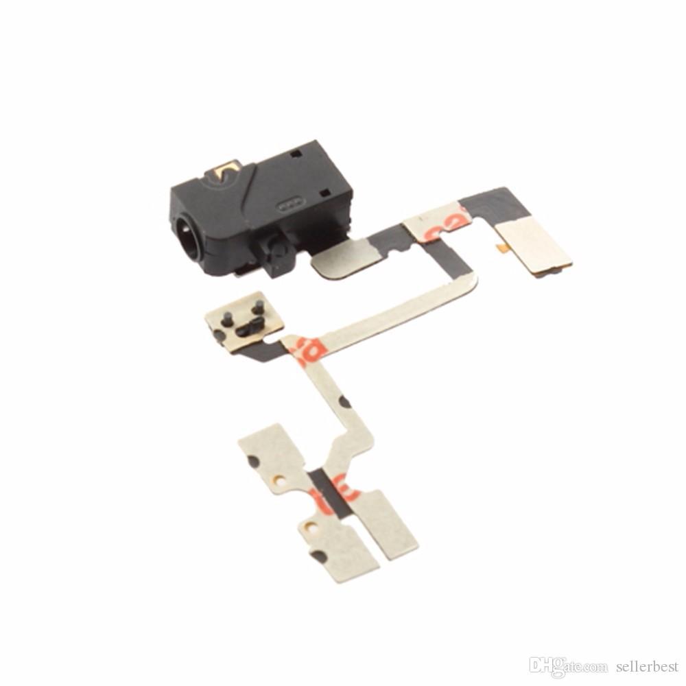 Cavo flessibile della flessione del commutatore del volume di potere della presa audio della cuffia il commercio all'ingrosso libero di trasporto di iPhone 4 4G
