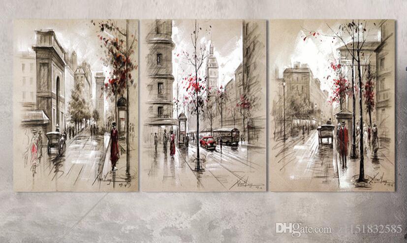 3 pezzo home decor poster Modulare Pittura sul muro Moderna parete immagini dipinti ad olio arte fiore Hd stampa su tela immagine