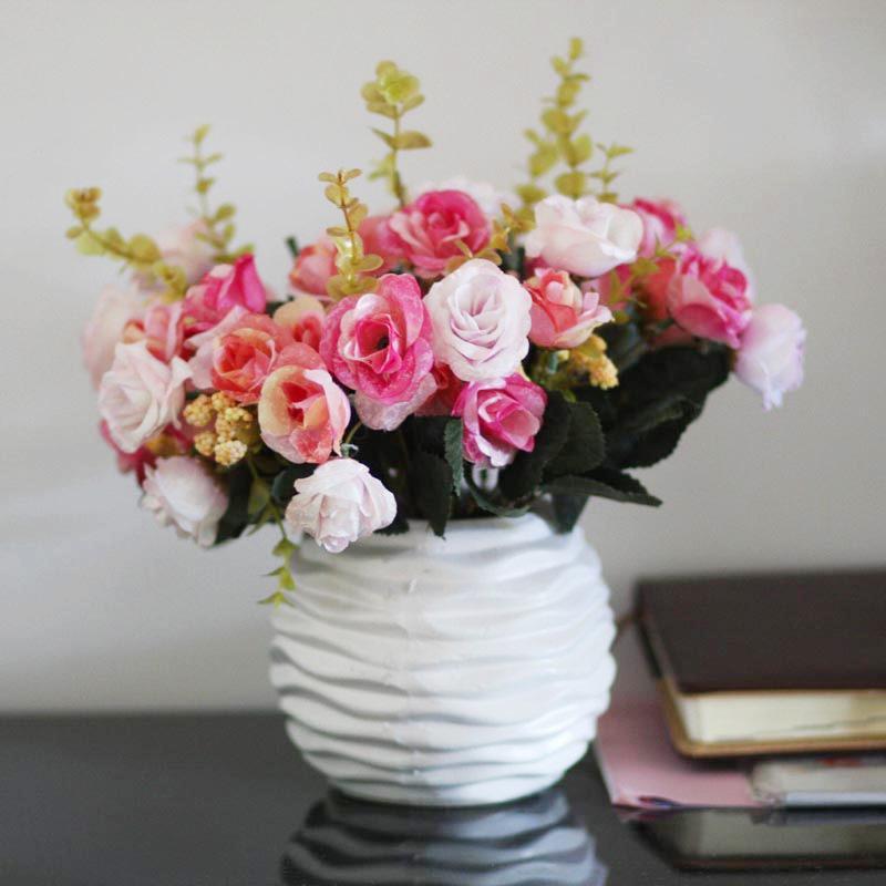2018 european garden flower vase set ceramic tea rose flowers silk 2018 european garden flower vase set ceramic tea rose flowers silk flower decoration room decoration from pengyaod76 7709 dhgate mightylinksfo