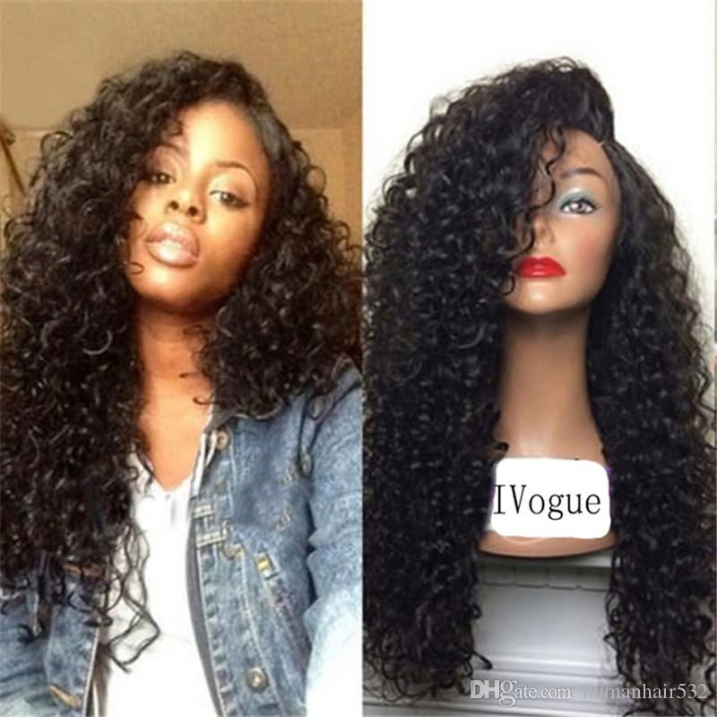 Kinky Curly Virgin Hair Lace Frontal Wigs Curly Full Lace Wigs Hair New Products for Women