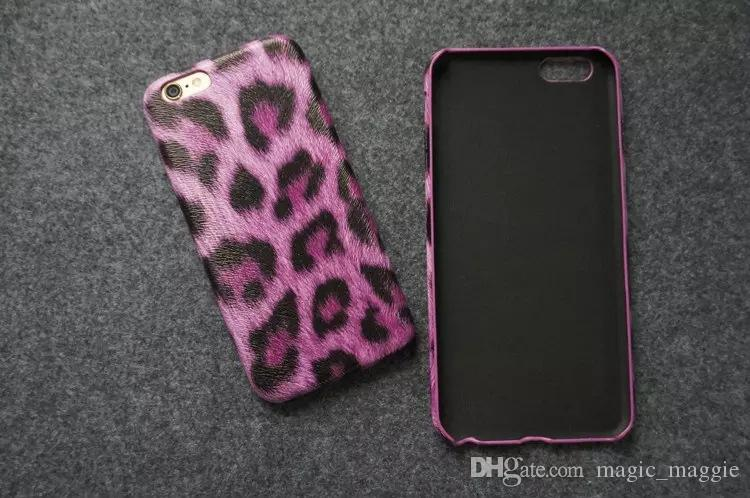 Fashion Cheap PU Leather Leopard Pattern Cell Phone Case Ultran Thin Soft Colorful Leopard Cell Phone Case for Iphone6 Iphone6plus
