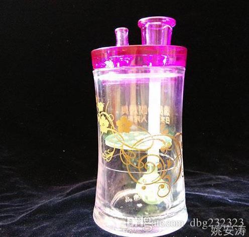 Frete grátis --- 2 Camada De Acrílico Hookah - tubo de fumar hookah de vidro Gongos de vidro - plataformas de petróleo bongos de vidro tubo de fumar narguilé de vidro - vap- vapo