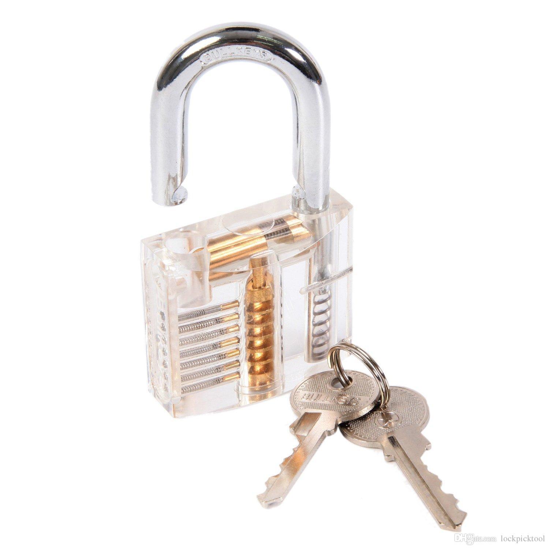 desbloqueio de bloqueio de bloqueio de ferramentas de bloqueio de bloqueio de bloqueio de locksmith + bloquear ferramentas de coleta de conjuntos com fechaduras de cadeado de prática transparente