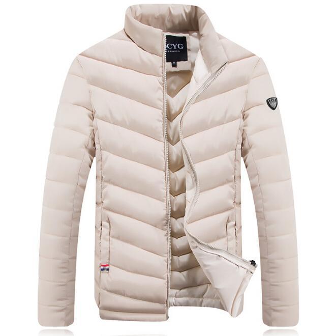 Yeni Erkekler Kalın Aşağı Palto Kış Sıcak Giysiler Aşağı Ceketler Erkek Slim Fit Giyim Giyim Pamuk-yastıklı