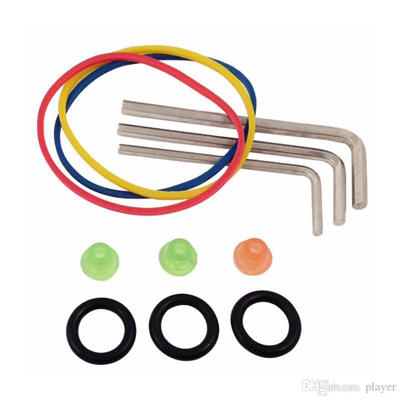 Komplette Tätowierpistolen-Kits 2 Maschinenpistolen 5 Farben Tinten-Sets 10 Stück Nadeln Netzteil-Tipps Griffe Tattoo Guns-Kits für Anfänger