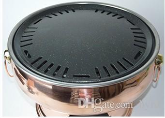 Churrasqueira de cobre Coreano churrasqueira fogão a carvão antiaderente panelas Jardim piquenique ao ar livre churrasco festa casa churrasco 006