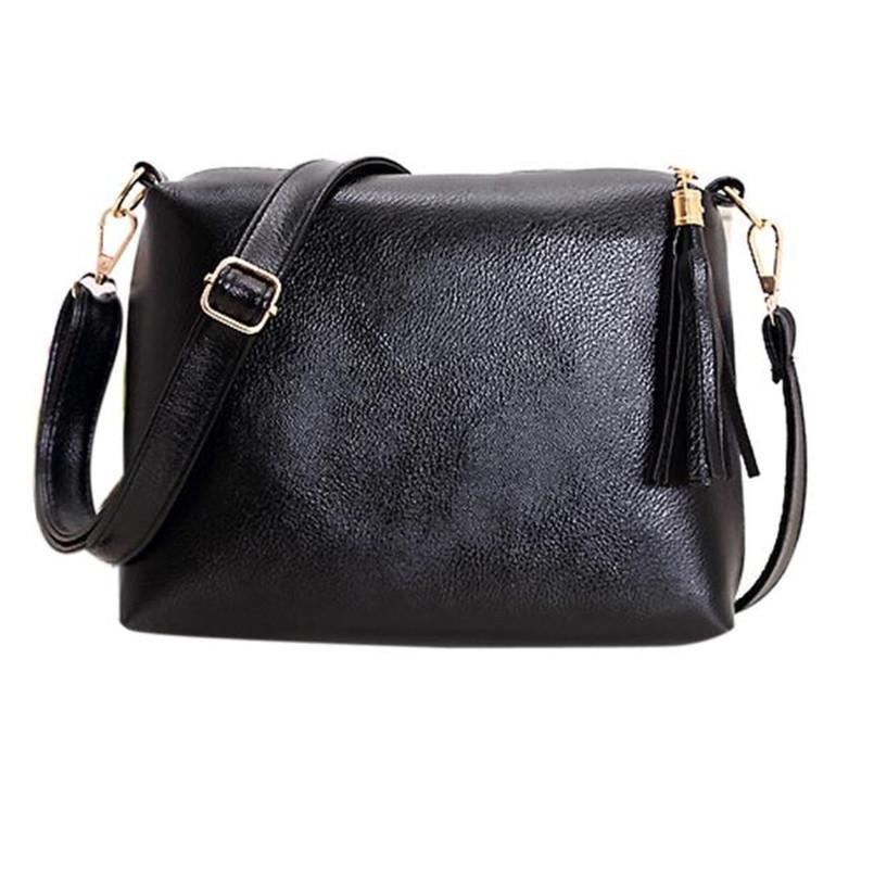 4b2300362fbc Wholesale New Arrivals Women Retro Tassel Pu Leather Crossbody Bags Female  Simple Fashion Shoulder Bag Ladies Elegant Messenger Bag Dec6 Laptop  Messenger ...