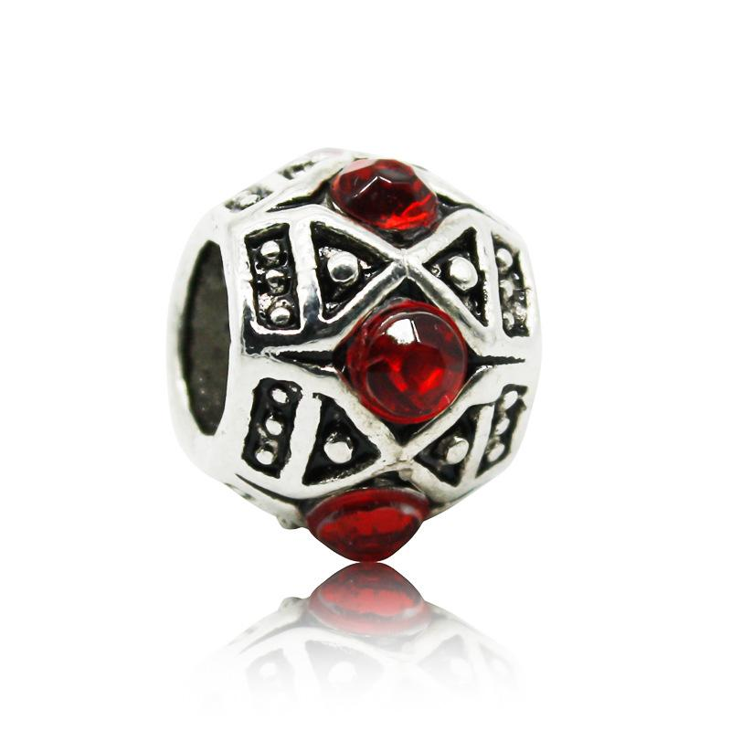 Moda perline di cristallo di fascino europeo perline donne Fit Pandora braccialetto braccialetto accessori originali gioielli fai da te all'ingrosso