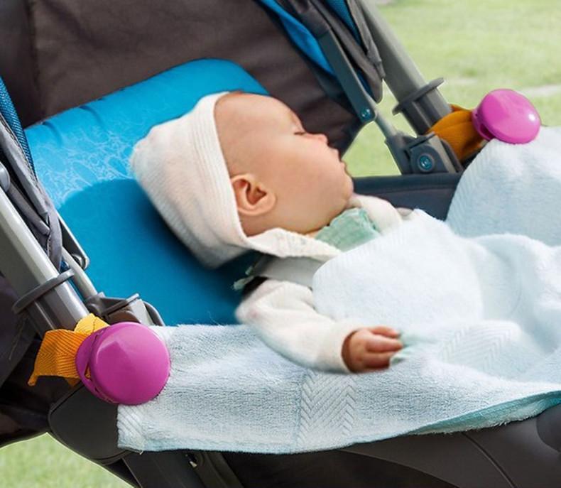 다기능 아기 유모차 후크 담요 가을 방지 클립 유모차 액세서리