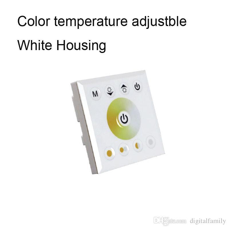 10 pz Touch Panel Remote Controller Interruttore 12 V 24 V Arcobaleno Color Ring Dimmer Parete 5050 SMD RGB RGBW Light Light CE ROSH
