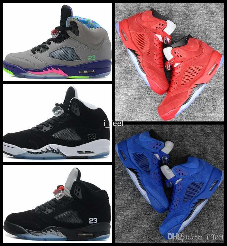 2f7209ffbfce2e 5 V Raging Bull Red Royal Suede Blue White Cement Camo OG Black Metallic  Oreo Mens Basketball Shoes 5s Sports Sneakers Size 8 13 Loafers For Men  Mens ...