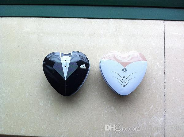 Bride and Groom Favor Tins,heart design tins favors,Wedding Favors,party gifts/favors