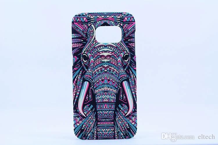 الشحن مجانا الهاتف الخليوي حقيبة جلد ملون رسم آيفون SAMSUNG S7 S7 حافة