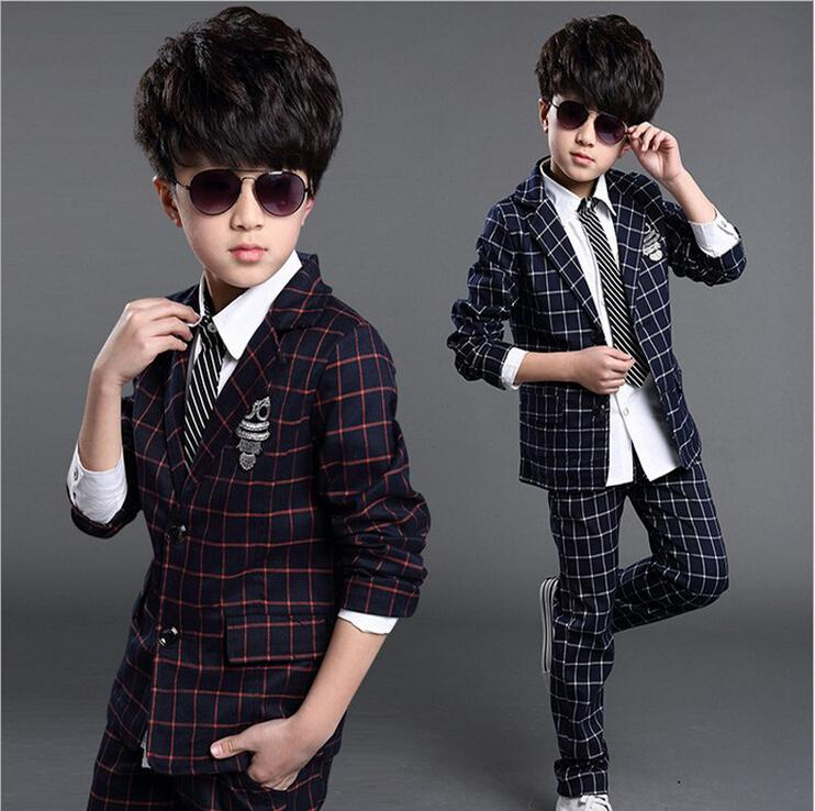 9ae0d21192cf 2019 2016 Kids Baby Boys Blazers Clothes Weddings Suits Jackets ...