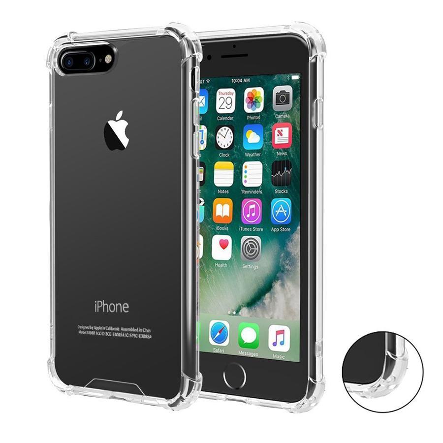 Für iphone x xs max xr 11 pro max 7 8 plus stoßfestem tpu fall rückseitige abdeckung transparent weich verdicken klar gel gummi sperrig ecken