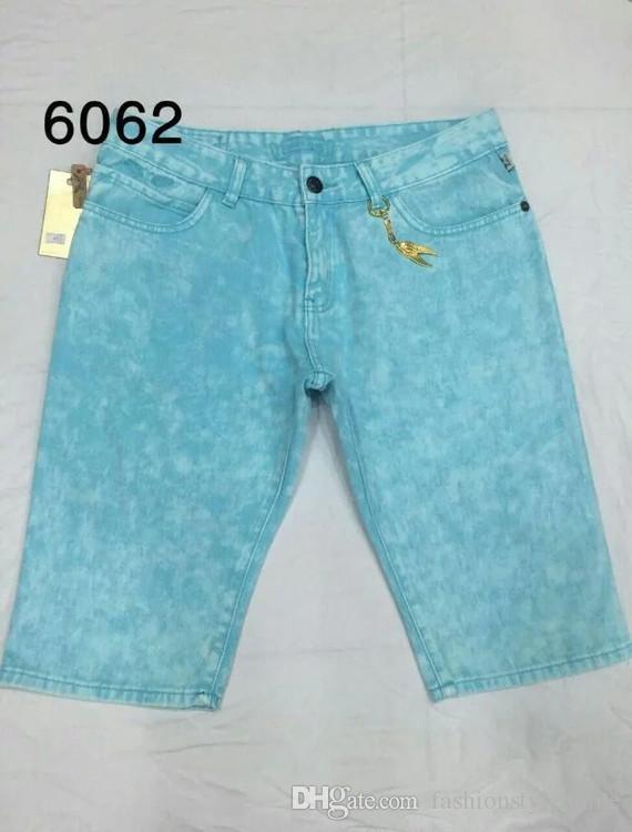 Famoso Maré Mens Moda Robin Jeans Robin Verão Jeans Curtas Calças de Rock Revival Religião Jeans Para O Homem Designer de Perfume