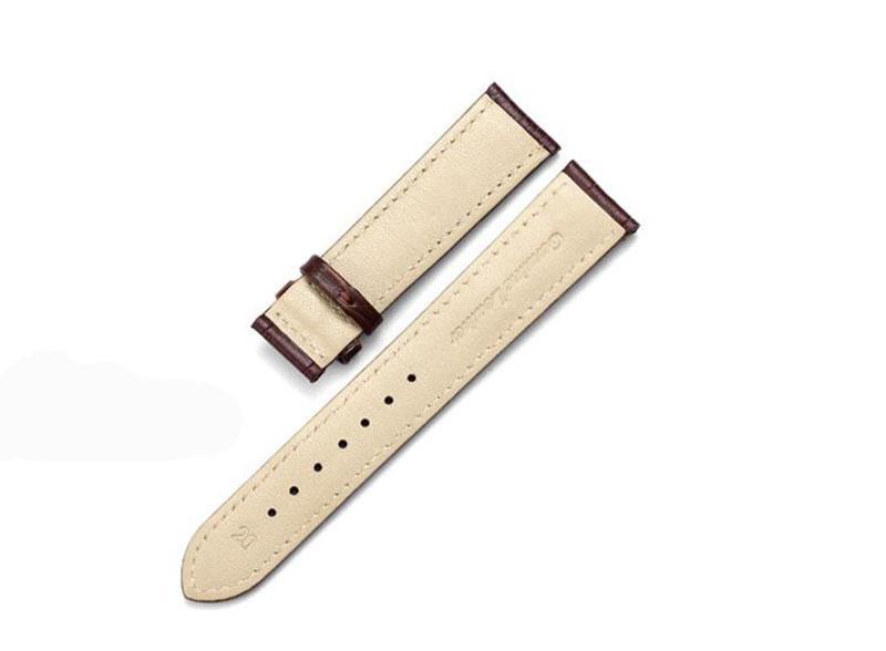High-End-Marken-Uhrenarmband Schwarz Braun Strap Push Button Versteckter Verschluss Wasserdicht Durable Männer Frauen Band Großhandel 20mm Spot Versorgung