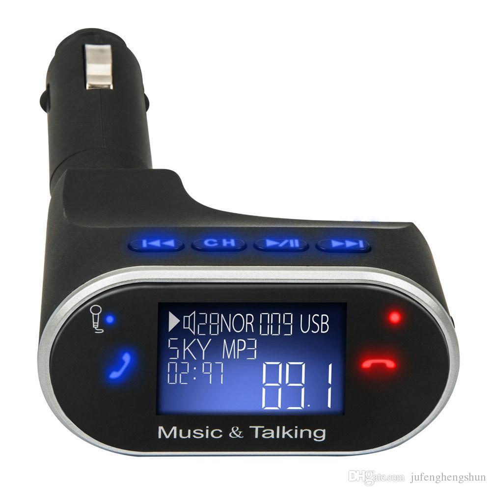 Kablosuz Bluetooth Araç Kiti FM Verici Radyo Adaptörü Handsfree MP3 Çalar Radyo LCD Modülatör USB SD Uzaktan IOS Android için