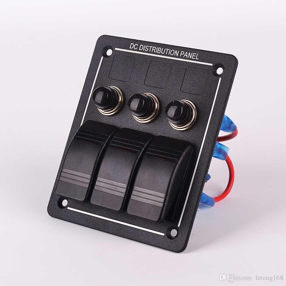 Disyuntor de aluminio del panel del interruptor de eje de balancín del coche de la prenda impermeable LED de la cuadrilla de DC 12V 3