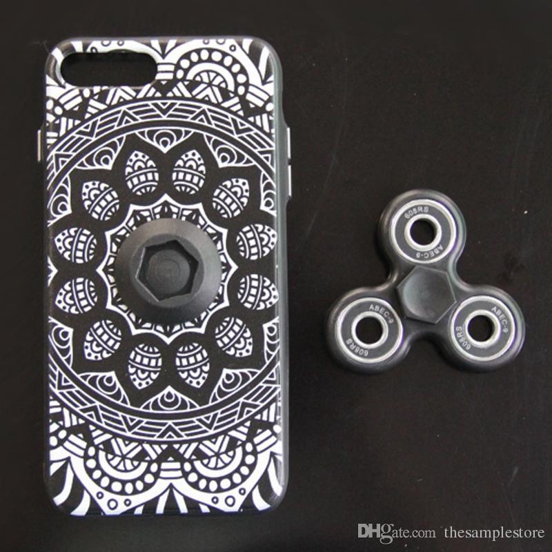 size 40 374d4 96884 Finger Hand Fidget Spinner Phone Case 3D print Back Cover Phone case Capas  Fundas for smartphone android phone