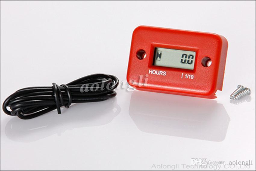 Venda quente À Prova D 'Água Indutivo LCD Digital Hour Medidor para bicicleta Motocicleta ATV Snowmobile Barco Marinho Esqui Dirt Motor Gas Tacômetro