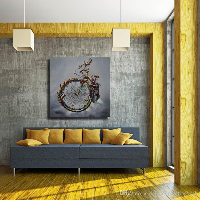 Acheter 1 Pices Pas Cher Peintures Modernes Décor à La Maison Salon Photos Murales Vélo Moderne Peinture à L Huile Décoratif Peinture Murale Pas