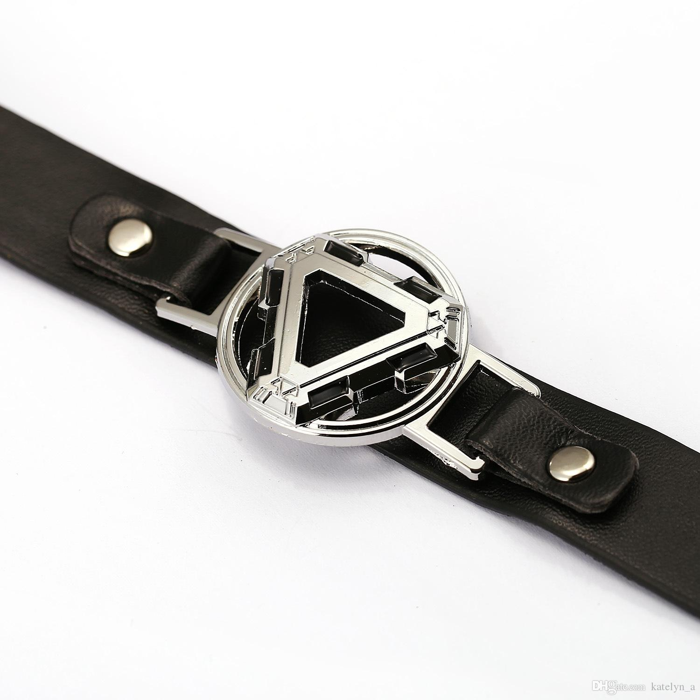 Super Hero Leather Bracelet Iron man Charm Bracelets Cosplay Punk Bangle Cool Men Women Jewelry