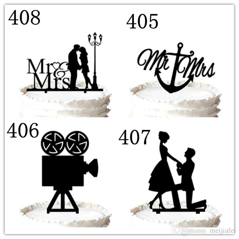 Wedding Cake Topper,Bride and groom with Motorbike acrylic cake toppers,for option