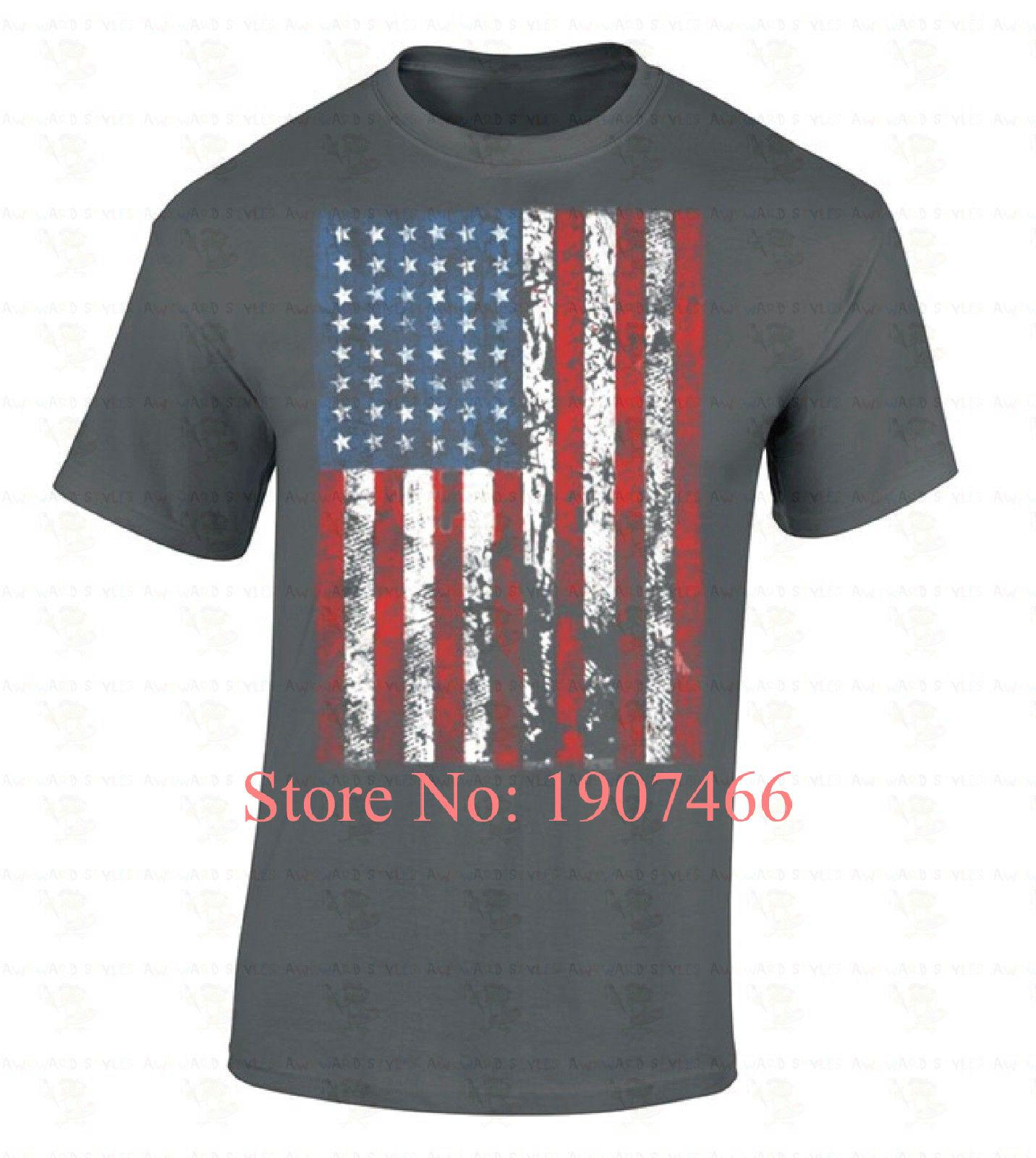 79c11ca416b American Flag T SHIRT Distressed Patriotic Tattered Vintage USA Flag Men'S  Tee Create Your Own T Shirt Design White T Shirt Design From Beidhgate03,  ...