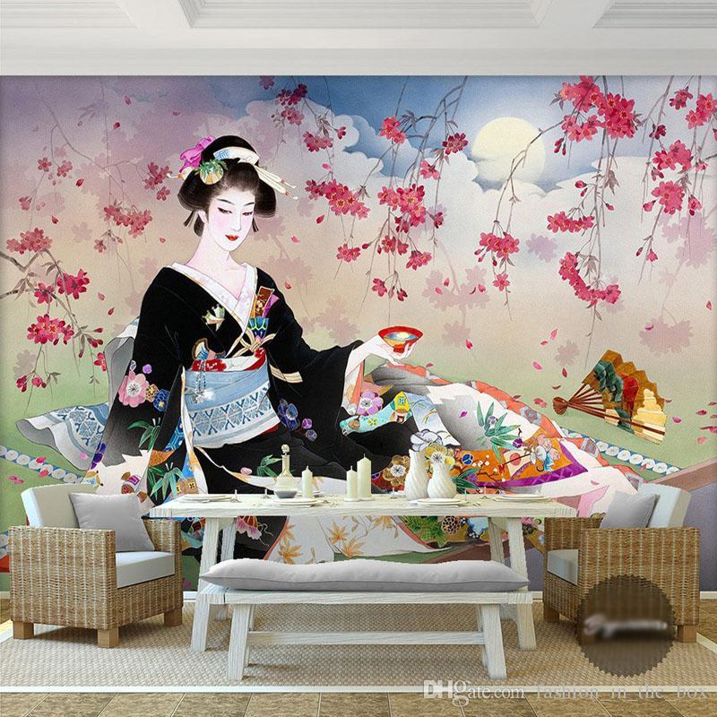 Acheter Personnalise 3d Papier Peint Japonais Geisha Photo Papier