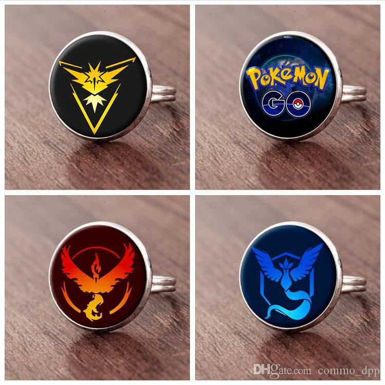 2016 New cartoon game Rings Time Gem Cabochon men&women Rings Silver Bronze Black adjustable Ring For Fashion Jewelry Rings