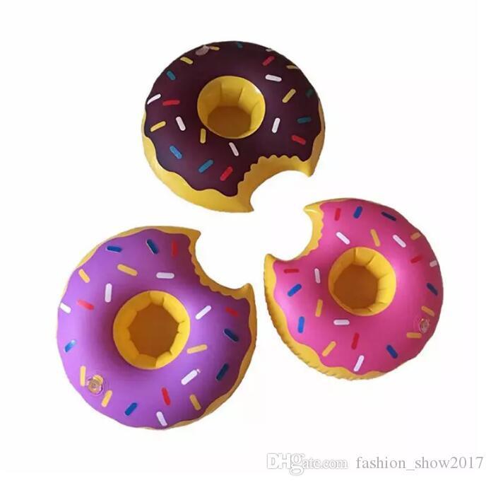 Flamants roses Donut Pastèque Ananas Gonflables Sous-verres Piscine Donut Flottant Bar Sous-Verres Flottant Porte-gobelet Bain Jouets