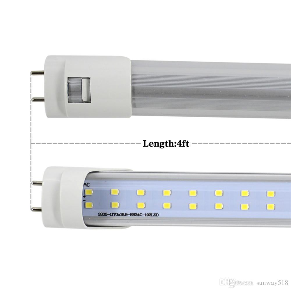 Stock in US + 4ft led tube 22W 28W Warm Cool White 1200mm 4ft SMD2835 Super Bright Led Fluorescent Bulbs AC85-265V UL