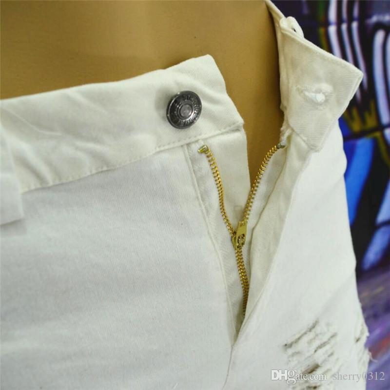 American Appar 2017 Nouveau Mode Trou lâche plus grande taille petit ami Jeans Femmes Mendiant Trou Ripped Casual Lavé Pantalon Crayon Pantalon