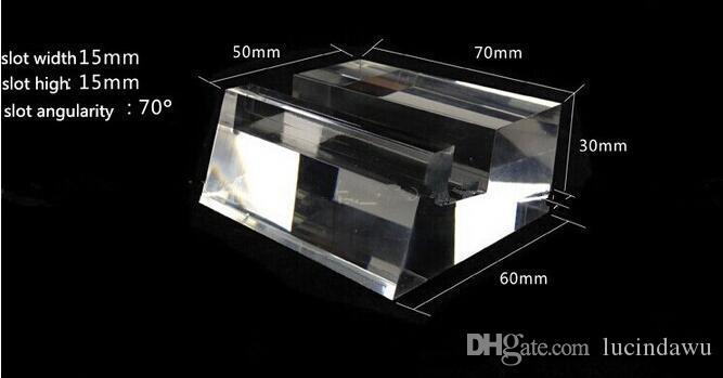 Support de support de support d'affichage de téléphone portable en cristal acrylique à haute teneur en support de support de téléphone grand écran