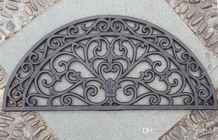 Half Round Black Cast Iron Door Mat Welcome Mat Out Door