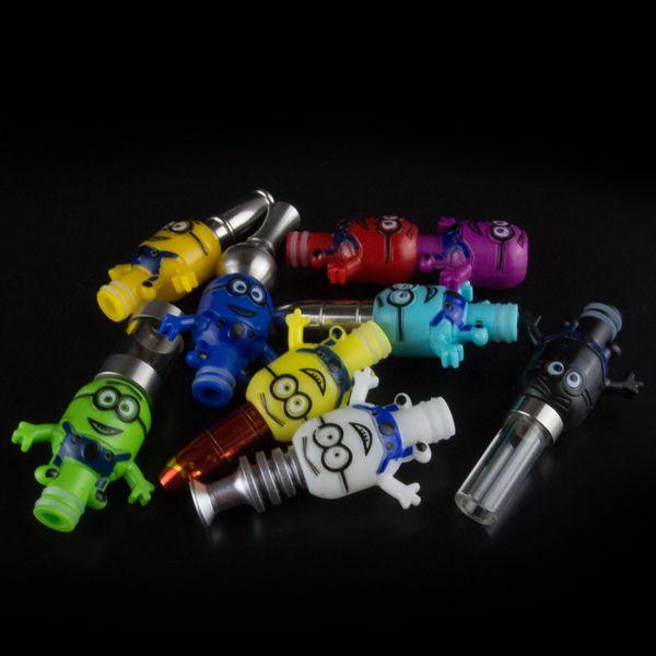 Popular Minions design Luminous drip tips 510 drip tip plastic mouthpeces EGO Electronic Cigarette Accessories Atomizer Drip Tips Free shipp