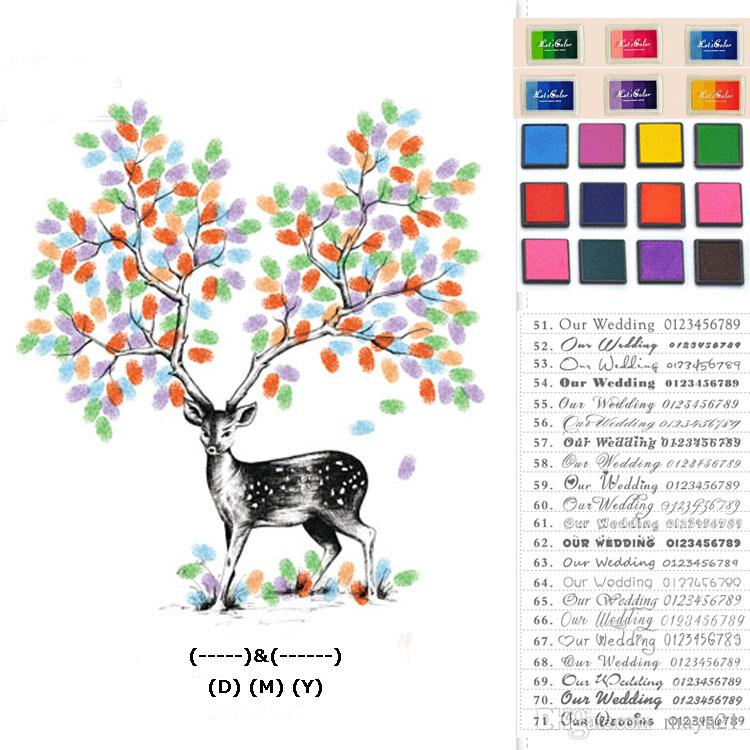 2018 wedding thumbprint guest book fingerprint guestbook wedding sign tree guest sign in template unique guestbook from maya21 1815 dhgatecom