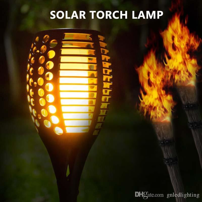 Solar Path Torches Lights Dancing Flame Lighting Solar Garden spot Light 96 LED Flood Flickering Tiki Torches Outdoor Waterproof