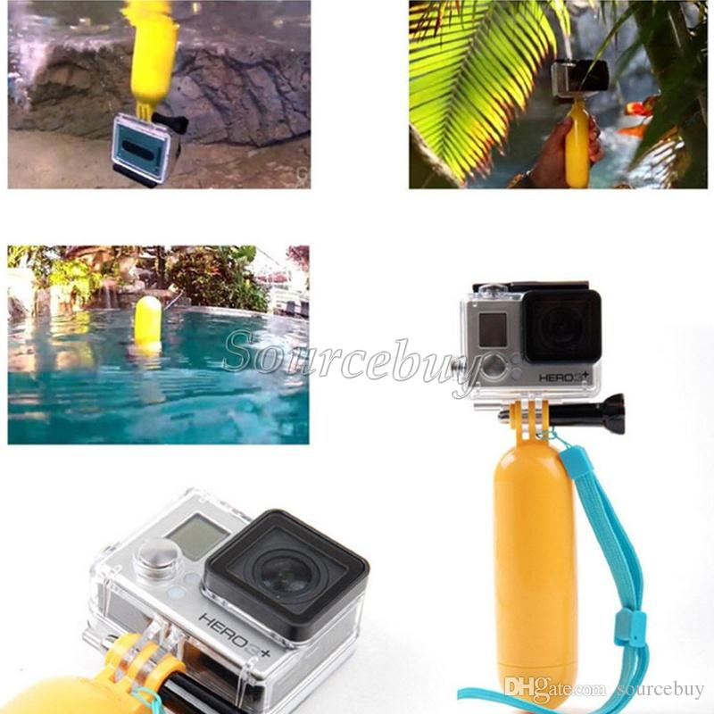 Gopro Accessories Bobber Floating Hand Grip Tripod Rope Screw For Go pro Hero 4 3+ 3 SJCAM SJ4000 Action Camera Mount Yellow Color