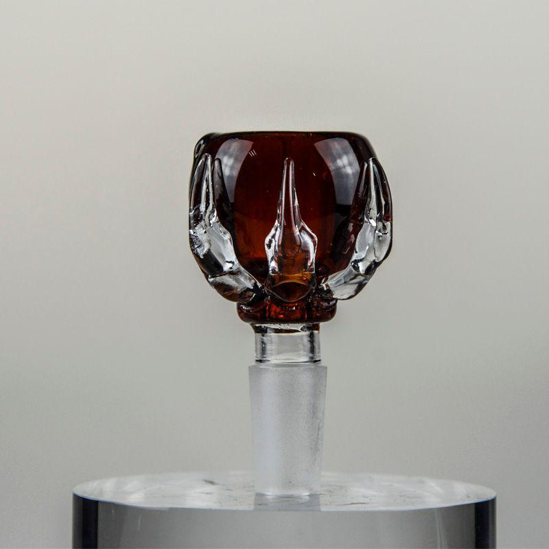Artiglio del drago colorato 14mm 18mm Ciotola di vetro Multicolore Spesso maschio Bong Ciotola Bella Heady Ciotola di vetro acqua Pipes Oil Rigs i Vendita